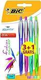 BiC Atlantis Fashion Ball Pens (Pack of 4)
