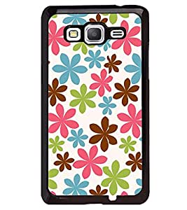 Printvisa Tricolour Floral Pattern Back Case Cover for Samsung Galaxy Grand Prime G530h
