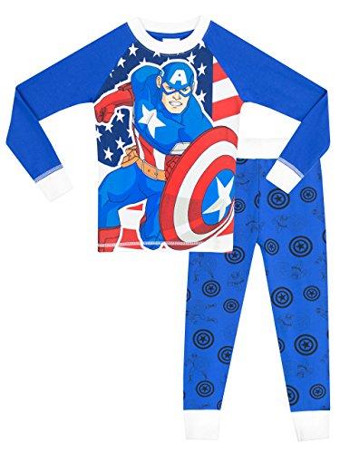 Marvel Captain America Boys' Captain America Pajamas Size 6 (Marvel Superheroes Pajamas compare prices)