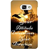 AMAN Your Attitude Your Direction 3D Back Cover For Samsung Galaxy A7 2016