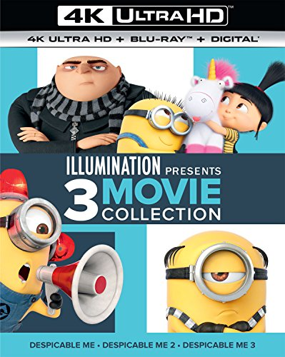 Blu-ray : Illumination Presents: 3-Movie Collection (Despicable Me / Despicable Me 2 / Despicable Me 3) [Blu-ray] [+Peso($32.00 c/100gr)] (US.ME.24.22-3.99-B078Y2PCJW.30713)