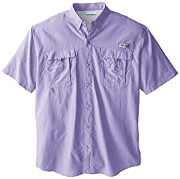 Columbia Sportswear Men\'s Big-Tall Bahama II Short Sleeve Shirt, Whitened Violet, Large Tall