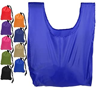 Mato & Hash Reusable Grocery Shopping Bag Ripstop Nylon Tote Integrated Pouch Royal