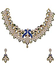 Ashapura Gold Plated Necklace With Dangle & Drop Earrings For Women - N0682