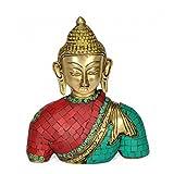Redbag Brass Lord Buddha Bust (18.42 Cm, 15.24 Cm, 6.35 Cm)