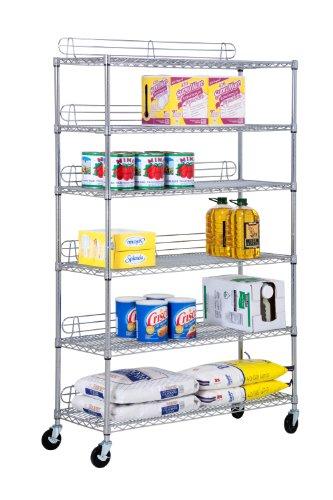 Honey-Can-Do SHF-01450 6-Tier Chrome Urban Shelving Unit