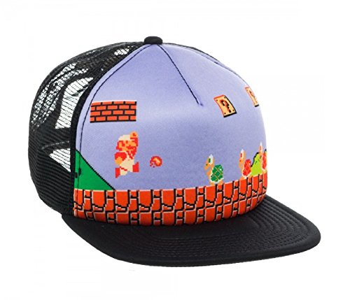 Super Mario Bros. Fire Mario Mesh Trucker