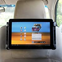 iKross Durable 180 Degree Rotation Car Mount Tablet Backseat Headrest Mount Holder for 7 ~ 10.2 inch Tablets: Apple iPad 4, 5 Air, iPad Mini, Acer Iconia Tab W3-810, A1-810; ASUS ME301T, Transformer Book T100Ta T100, ME172V, ME173X, VivoTab, MeMO Pad FHD