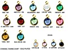 60pc Set of Swarovski Birthstone Channel Charms Gold Plated