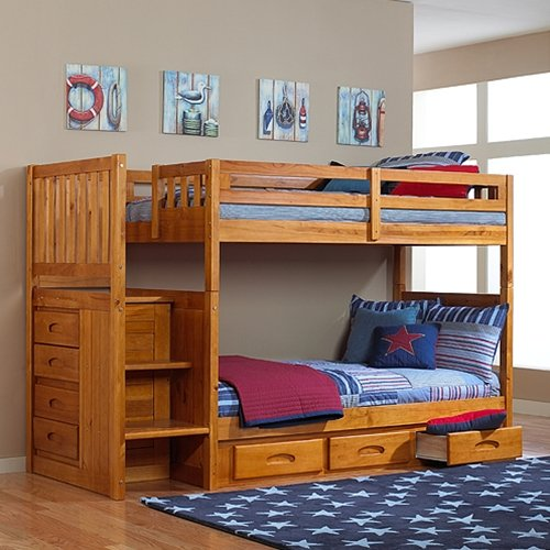 Bunk Beds With Stairs 6495 front