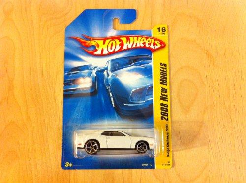 Hot Wheels 2008 New Models White Dodge Challenger Srt8 W/ Oh5Sps #16 (16 Of 40)