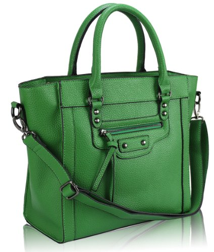 Ladies Green Handle Handbag KCMODE