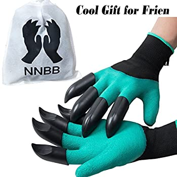 Garden Gloves with Fingertips Claws Quick– Great for Digging Weeding Seeding poking -Safe for Rose Pruning –Best Gardening Tool -Best Gift for Gardeners (Double Claw)
