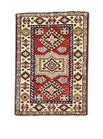 L'EDEN DEL TAPPETO Alfombra Kazak Super Rojo/Multicolor 64 x 90 cm