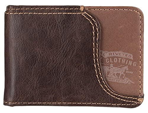 04. Levi's Men's Slim Front Pocket Wallet With Money Clip
