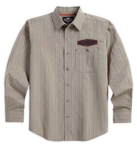 Harley-Davidson Men'S Performance Striped Long Sleeve Woven Shirt 96545-14Vm