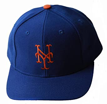 New York Mets MLB Adjustable Snapback Closure Hat, Blue + Includes GT Wristband by Team MLB