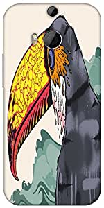 Snoogg Stylized Toucan 2703 Designer Protective Back Case Cover For HTC M8