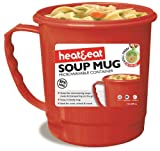 Heat & Eat Microwave Mug, Red