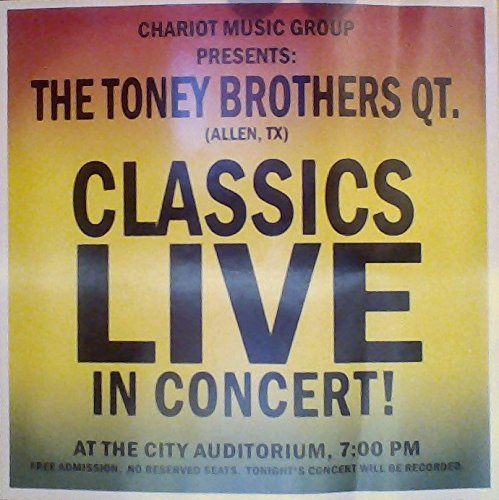 Classics Live in Concert! (Toney Brothers compare prices)
