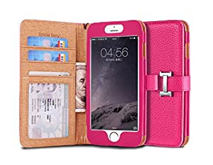 iPhone 6s (4.7) Case, [Snow Fairy] iPhone 6 (4.7) Flip Case [Wristlet Series][Wallet] Cash Pocket - Wrist Strap PU Leather Case for iPhone 6 (4.7) - Special Design ID Slot (IP6-PUL-C-001) iPhone 6s (4.7) ECO Package Hot Pink
