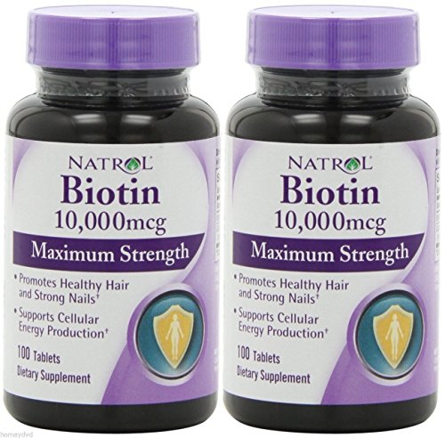 2 Packs Natrol Biotin 10,000 Mcg, Maximum Strength, 100 Tablets Shipped From Usa And Fast Shipment