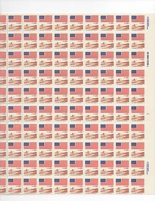 Flag Over Field Sheet of 100 x 18 Cent US Postage Stamps NEW Scot 1890
