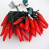 Chili Pepper Light String, 35 Lights, Opaque Red
