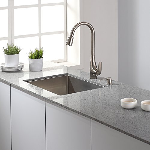 Kraus Kpf 1621ss Single Lever Pull Down Kitchen Faucet In Stainless Steel Hardware Plumbing