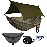 ENO Double Deluxe OneLink Sleep System - Khaki/Olive Hammock With Olive Profly