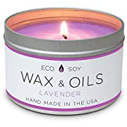 Scented Candles (Lavender) Soy Wax Aromatherapy Candle - 8oz - Hand Made in the USA