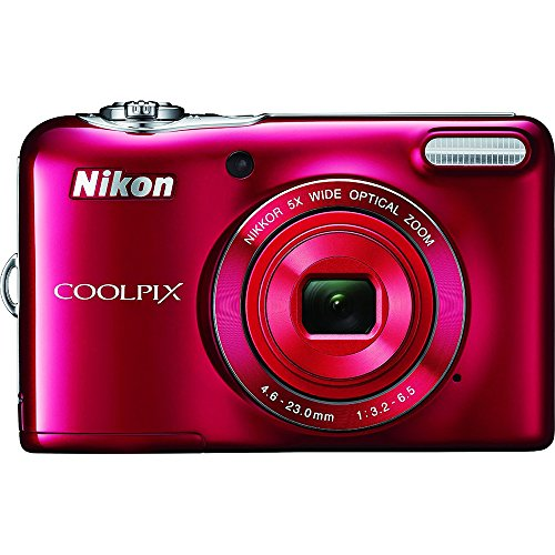 Nikon COOLPIX L32 Digital Camera with 5x Wide-Angle NIKKOR Zoom Lens (Red) (Certified Refurbished) (Digital Camera Compact compare prices)