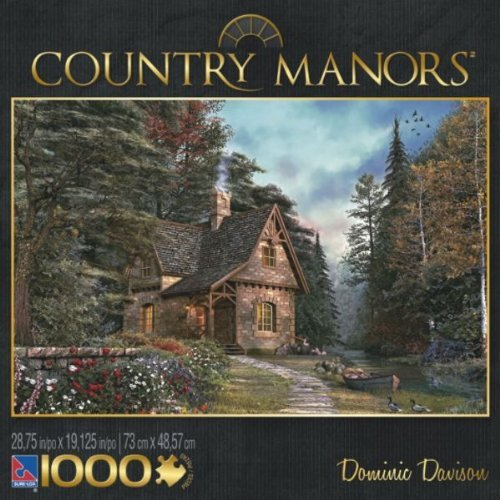 Sure-Lox Country Manors Series By Artist Dominic Davison - 1000 Piece Puzzle - Woodland Cottage