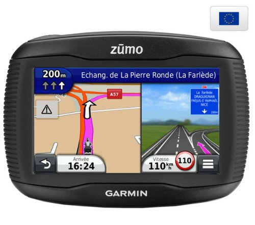 garmin zumo 340lm europe carte vie info trafic gps moto housse gris m tal pour gps. Black Bedroom Furniture Sets. Home Design Ideas