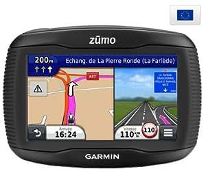 """GARMIN Zumo 340LM Europe - Carte à vie - Info Trafic - GPS moto + Housse gris métal pour GPS avec écran 4,3"""""""