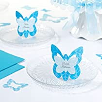 Set of 12 Butterfly Name Cards, Blue
