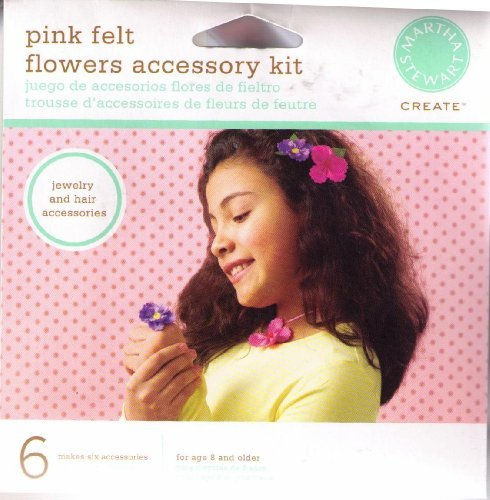 Martha Stewart Create Pink Felt Flowers Accessory Kit