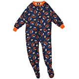 NFL Denver Broncos Boy's Blanket Sleepers, 4T, Blue at Amazon.com