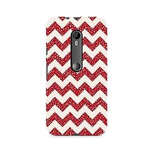Ebby Red Glitter Chevron Premium Printed Case For Moto X Style