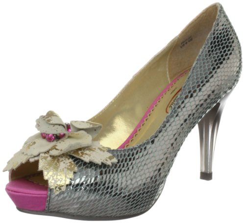Poetic Licence Women's Faithfully Yours Silver Platforms Heels 3915-5C 6 UK, 39 EU