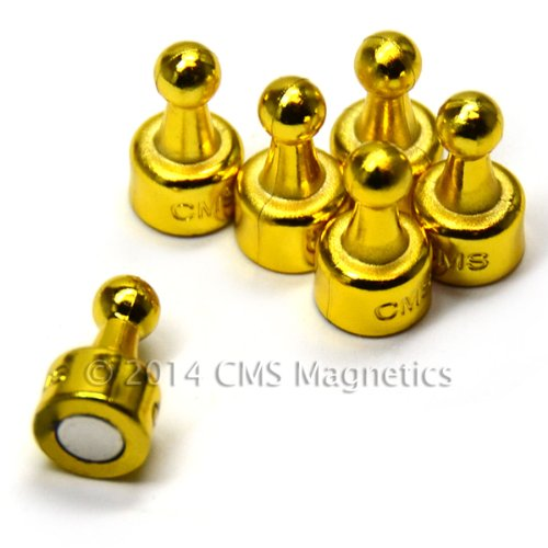 Cms Neopin® 24-Count Golden Magnetic Push Pins - Can Hold Up To 16 Pages Of 20 Lb Papers front-403757