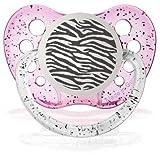 Personalizado Zebra chupetes Chupete Glitter Pink
