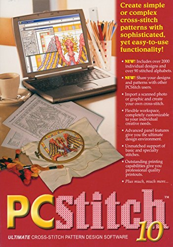M&R Technologies 20009 PC Stitch Pro Cross Stitch Software (Counted Cross Stitch Software compare prices)