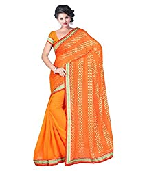 My online Shoppy Chiffon Saree (My online Shoppy_26_Orange)