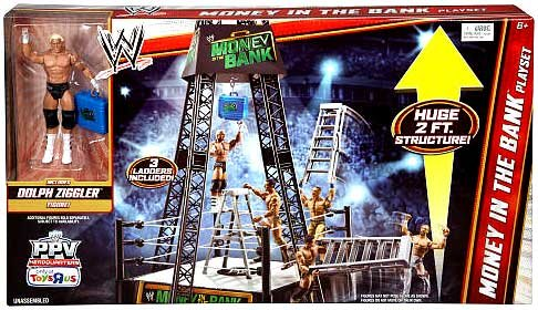 WRESTLING Mattel WWE Wrestling Exclusive Ring Playset Money in The Bank [Includes Dolph Ziggler Figure] at Sears.com