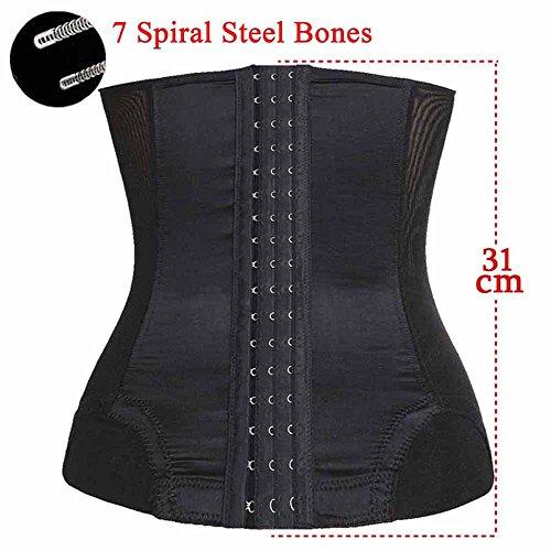 TAILONG Long Torso Waist Trainer Slimming Body Shaper Tummy Control Girdle Belt (M, Black)