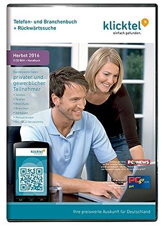 klickTel Telefon- und Branchenbuch inkl. Rückwärtssuche Herbst 2016