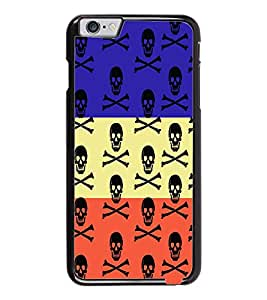 PrintDhaba Skull D-3228 Back Case Cover for APPLE IPHONE 6 (Multi-Coloured)