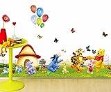 #5: The Splash Happy Animals Wall sticker (Multicolor, Wall Covering Area - 110(w) x 40(h) cm)