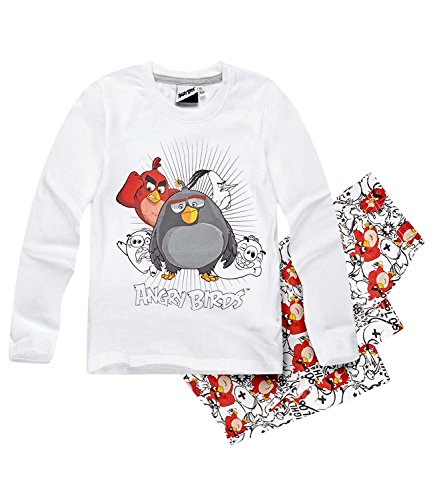 Angry Birds Ragazzi Pigiama - bianco - 140